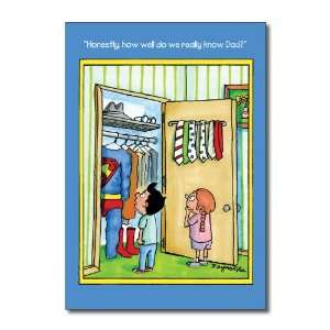 Funny Fathers Day Card Superdad Humor Greeting Dan