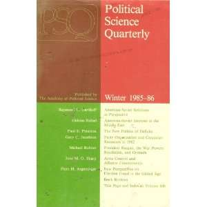 : Volume 100, Number 4, Winter 1985 86: Demetrios Caraley: Books