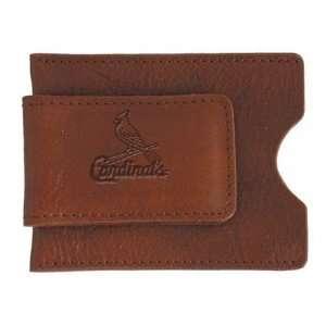 St. Louis Cardinals Tan Soft Leather Money Clip  Sports
