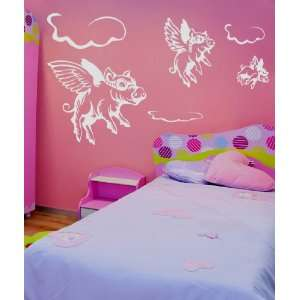 Vinyl Wall Decal Sticker When Pigs Fly GFoster130