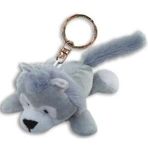 Wolf Plush Keychain Office Products