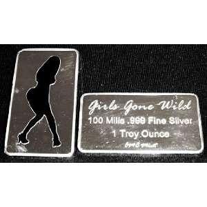 100 Mill .999 Fine Silver Girls Gone Wild #10 Art Bar *KromeProducts