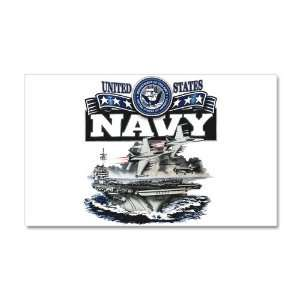 22 x 14 Wall Vinyl Sticker United States Navy Aircraft Carrier and
