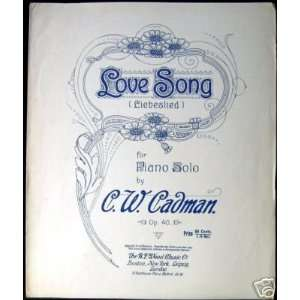 Love Song (Liebeslied) (for Piano Solo, Op. 40) C. W