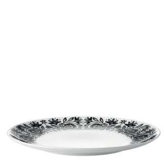 LSA Ania Black/White Dinner Plates   Set Of 4 Plates