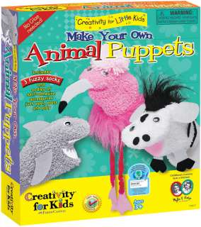 Kids Softcrafts   Make Your Own Animal Puppets Kit