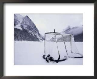 Ice skating equipment, Lake Louise, Alberta Pre made Frame at Art