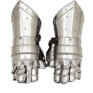 Medieval GAUNTLETS Armor METAL GLOVES Pair Set: Home