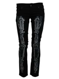 Jist Steampunk Skeleton Black Skinny Jeans   Buy Online at Grindstore