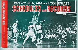 1971 2 Sporting News Basketball Schedules & Records NMM