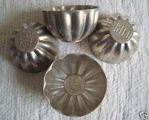 Original Vintage Aluminum Jello Molds Set of 4