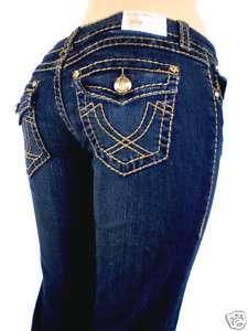 Women La Idol Jeans Brown Stitching Plus size 17,19, 21