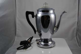 Vintage Royal Rochester Working Electric percolator coffee pot