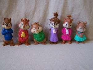 Set Alvin & Chipmunks Talking McDonalds Toys Complete