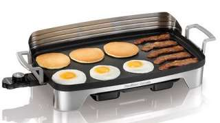 Hamilton Beach Premiere Cookware Electric Griddle w/ Warmer 38541 NEW