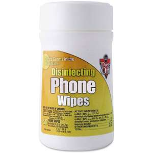 Dust Off Pre moistened Cloth Phone Wipes Office
