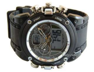 Army Military Digital Mens MultiFunctional Alarm Watch