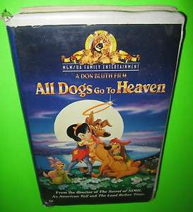 All Dogs Go To Heaven VHS MGM Loni Anderson Dom DeLuise Burt Reynolds