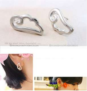 2012 Women Fashion Angel Wings Design Ear Pin Earring Golden Silvery