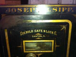 LARGE ANTIQUE SAFE DIEBOLD SAFE & LOCK COMPANY
