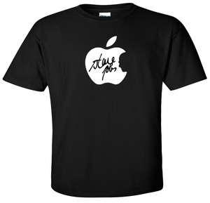 Steve Jobs Signature T shirt APPLE Logo Remember Tee S 5XL by Tee