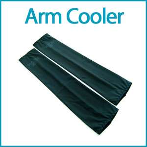 Cooling Arm Sleeves Cover Sun Protection 1 Pair Black