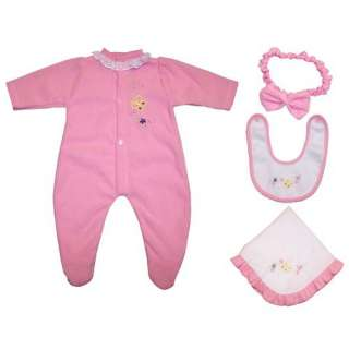 Baby Doll Pink Butterfly Lilly Doll Ensemble