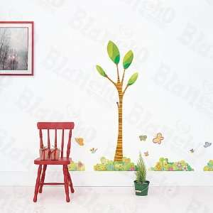 Modern House Tree Garden Corner removable Vinyl Mural Art Wall Sticker