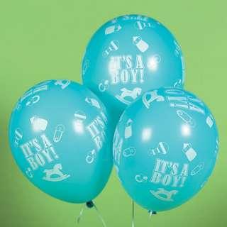 ITS A BOY BLUE BALLOONS BABY SHOWER /BIRTH DECOR