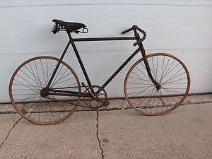 PRE WAR WOOD RIM MENS BICYCLE WOODEN WHEEL BIKE ANTIQUE SCHWINN
