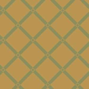 Lancaster Trellis Mint and Gold Wallpaper in Shand Kydd