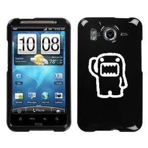 HTC INSPIRE 4G WHITE DOMO SALUTING ON A BLACK HARD CASE