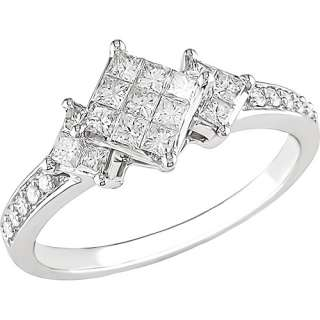 1/2 Carat T.W. Invisible Set Princess Diamond Engagement