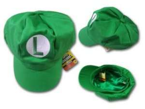 Super Mario Brothers hat luigi Cap L Green Hats Costume