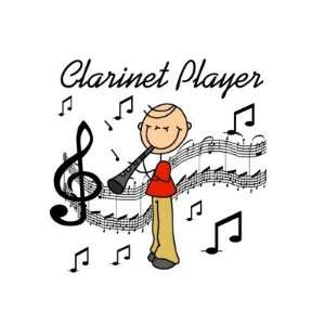 Stick Figure Clarinet Player Tshirts and Gifts Greeting