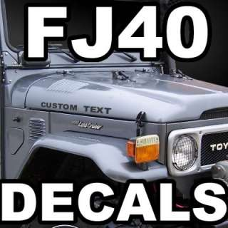 Custom made hood decals graphic stickers fits Toyota FJ40 FJ45 FJ50