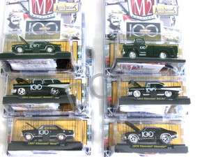 M2 Machines 100 Years Chevrolet Chevy Set of 6 Diecast Car 1/64