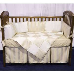 Baby Doll Bedding Gold Sensation Port a Crib Set, Gold Baby