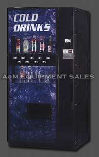 For sale Refurbished Dixie Narco 501E multi priced drink machine.