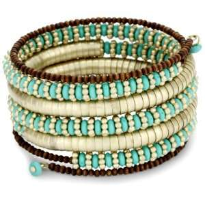 Danielle Stevens Resort Turq Wire Wrap Bracelet: Jewelry