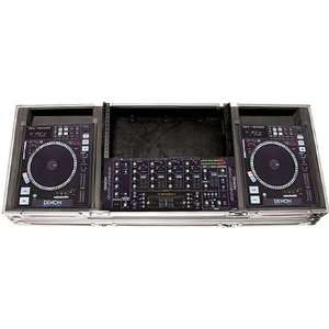 with wheels holds one 19 inch mixer and two Denon DNS5000 CD players