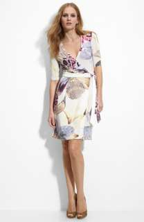 Just Cavalli Pastel Print Jersey Wrap Dress