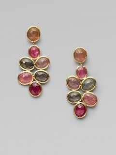Marco Bicego   18K Gold Sapphire Cluster Drop Earrings/Short