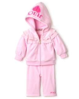 Juicy Couture Infant Girls Ruffled Hooded Top & Legging Set   Sizes 0