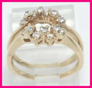 Diamond Baget K Yellow Gold Ring
