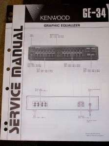 Kenwood GE 34 Graphic Equalizer Service/Parts Manual