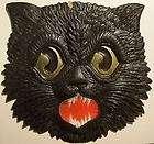 Antique HALLOWEEN Postcard Jack o lantern & Black Cat Halloween