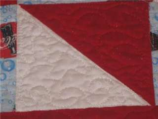 Handmade Table Runner Coca Cola Quilted Bubbles Coke