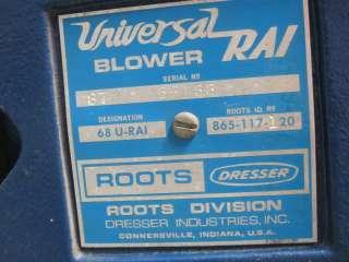 USED ROOTS ROTARY BLOWER   MODEL 68 U RAI