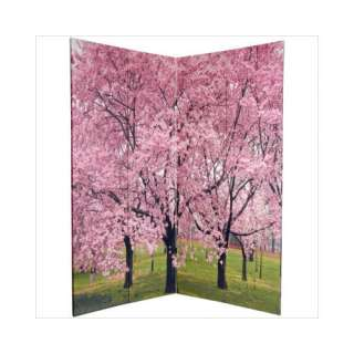 Furniture 6Feet Tall Double Sided Cherry Blossoms Room Divider Decor